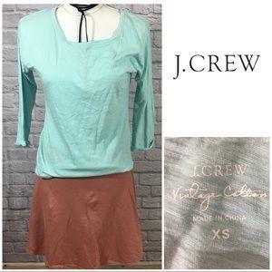 J Crew Vintage Cotton  Long Sleeve T Shirt Sz XS